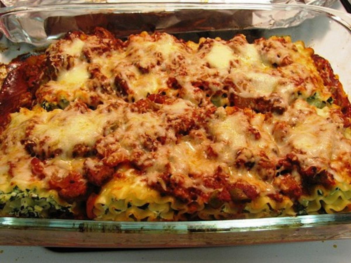 Turkey and Spinach Lasagna Rolls Healthy Recipe