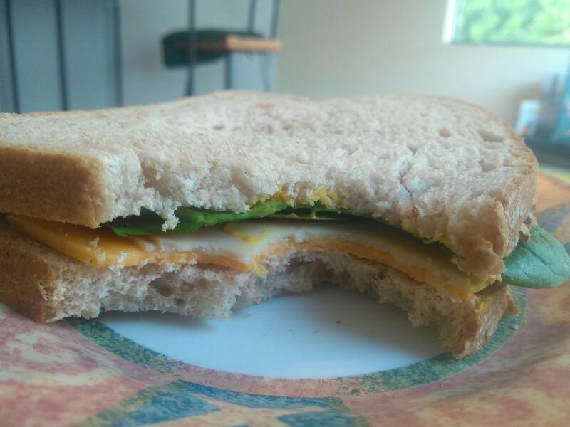 Turkey, Cheddar, and Mustard Sandwich Healthy Recipe