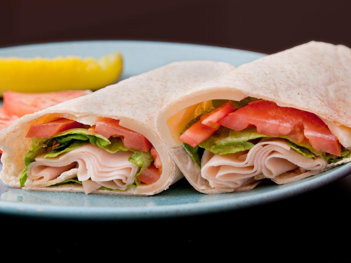 Turkey, corn and tomato wrap Healthy Recipe
