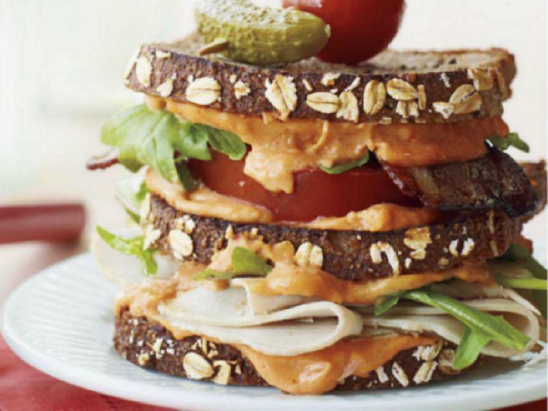 Turkey Hummus Sandwich Healthy Recipe