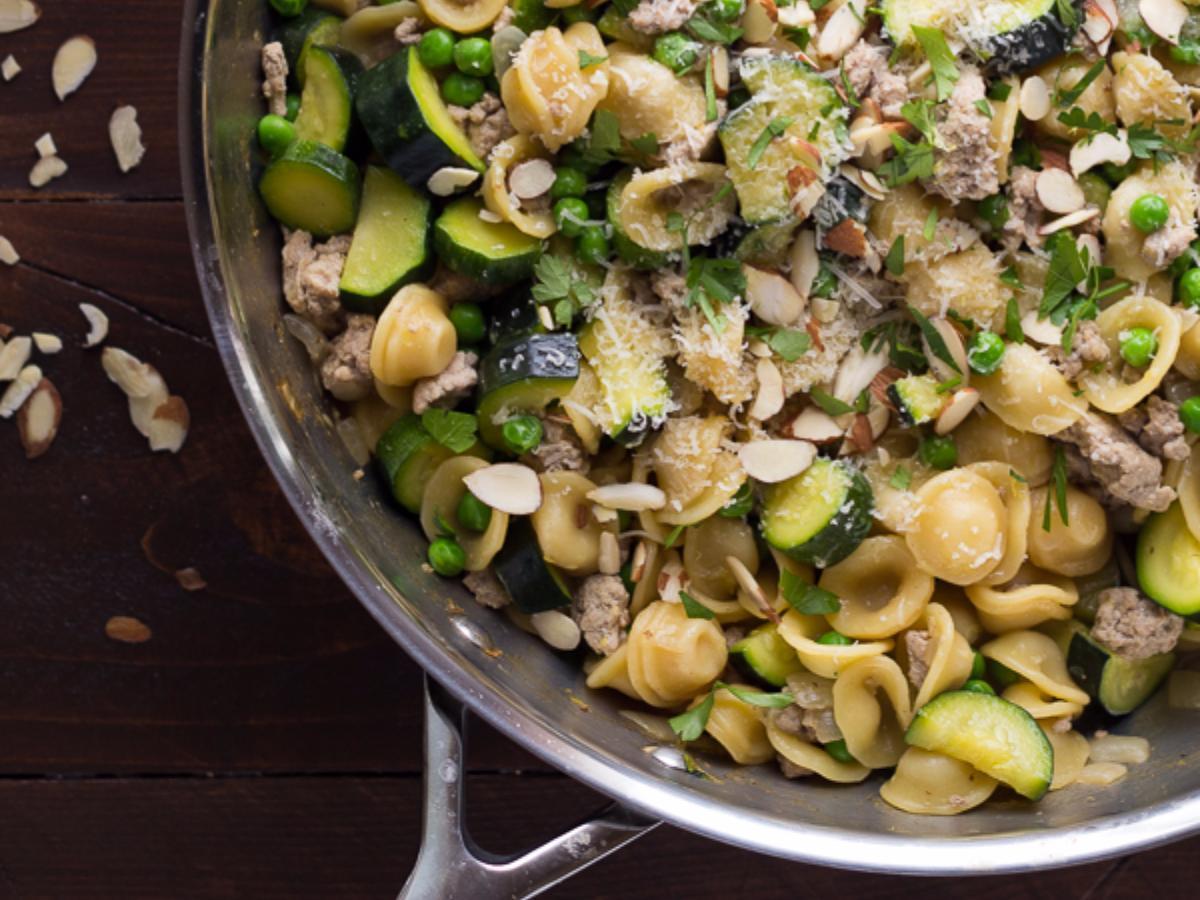 Turkey Orecchiette with Zucchini and Lemon Healthy Recipe