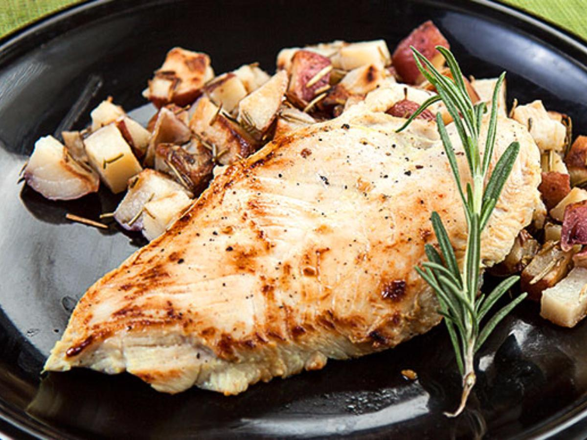 Turkey Tenderloins and Rosemary Potatoes Healthy Recipe