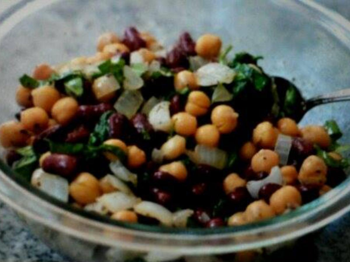 Two Bean Salad Healthy Recipe