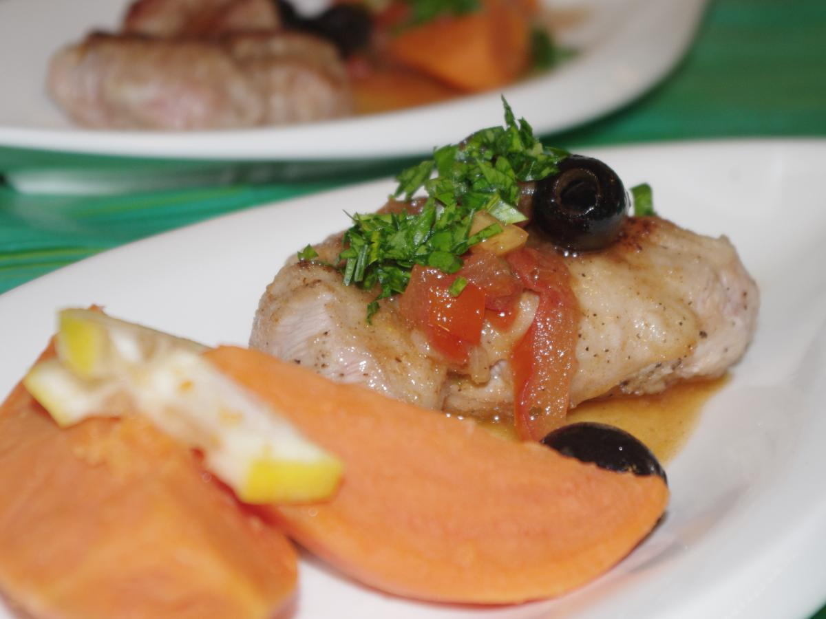 Veal Scallopini with Olive and Sun-Dried Tomato Sauce Healthy Recipe