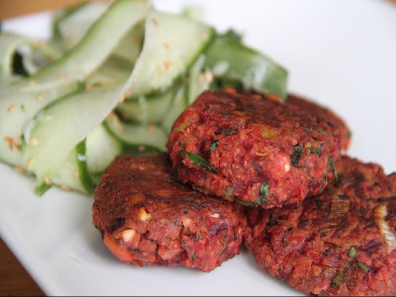 Vegan Beet & Ginger Fritters Healthy Recipe