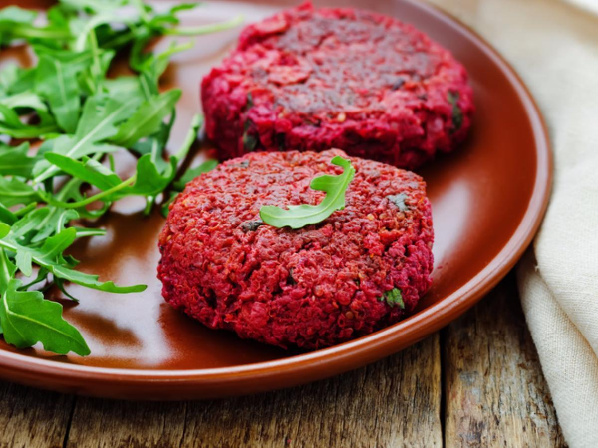 Vegan Beetroot and Tofu Patties Healthy Recipe