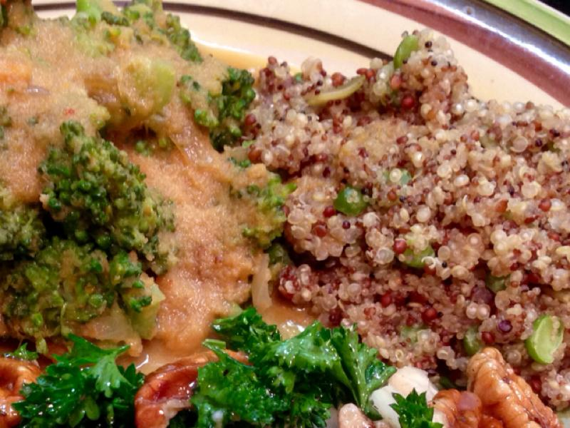 Vegan Broccoli Quinoa Casserole Healthy Recipe