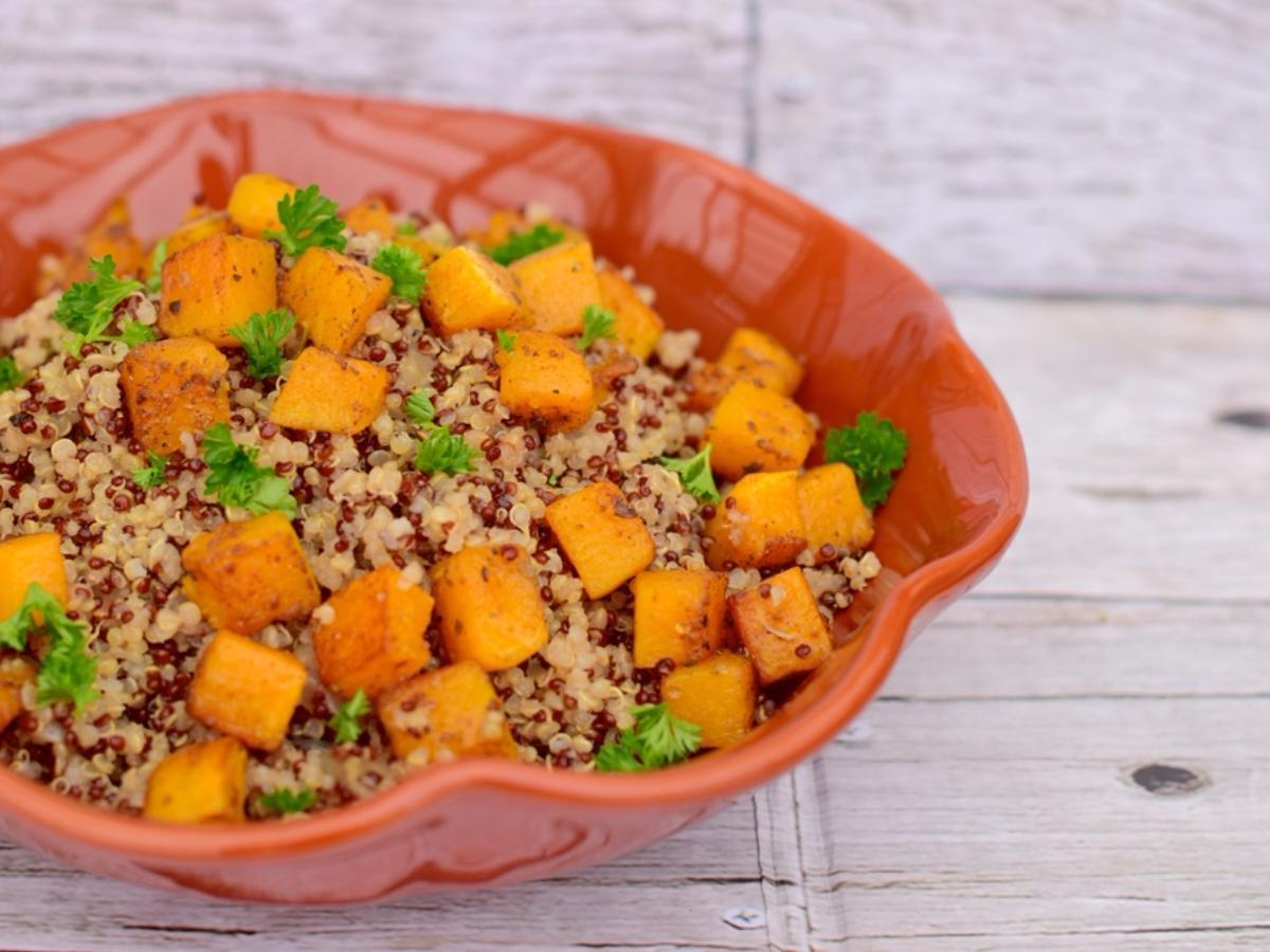 Vegan Protein Squash Bowl Healthy Recipe