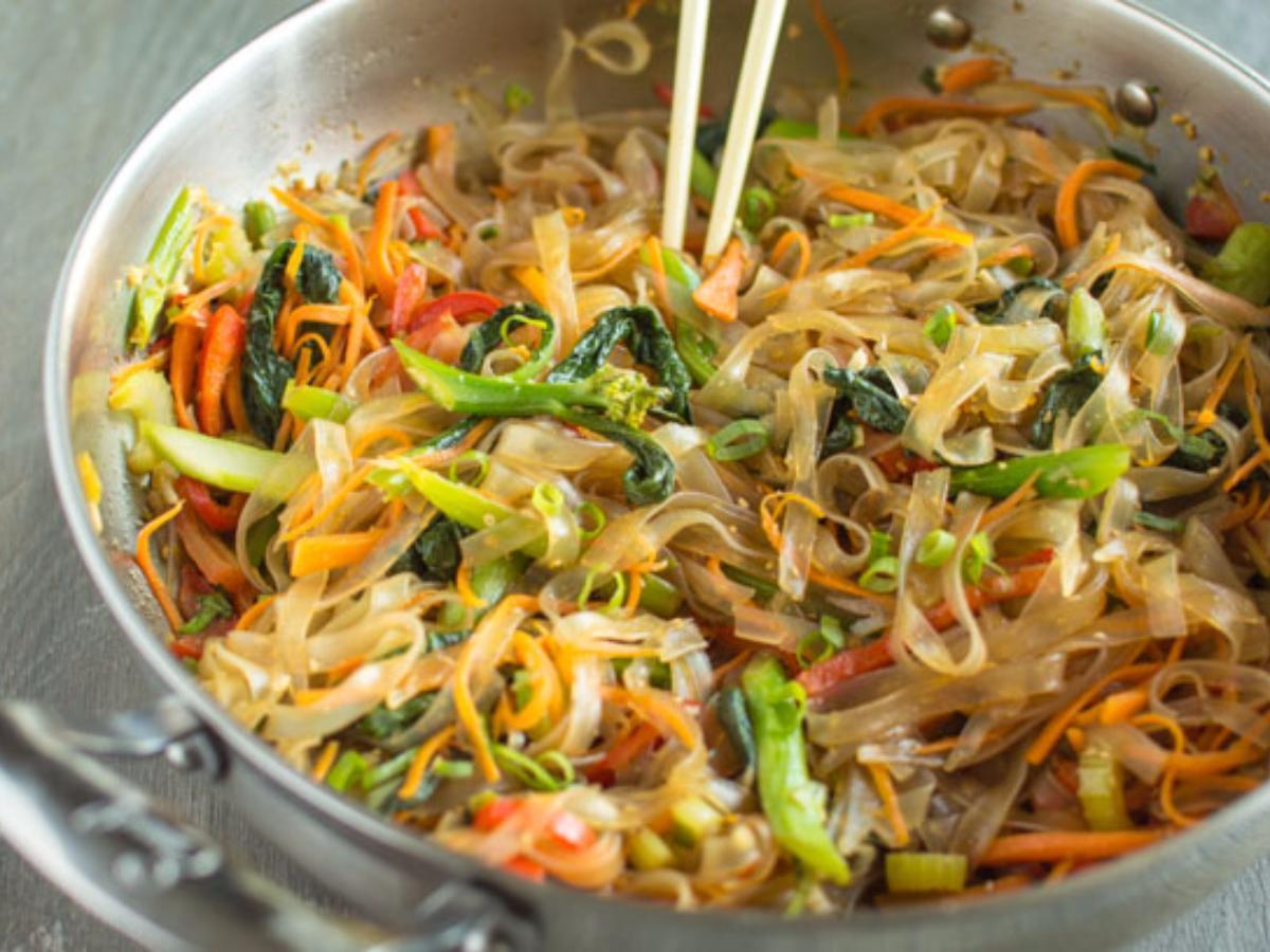 Vegetable Stir Fry Mung Bean Noodles Healthy Recipe