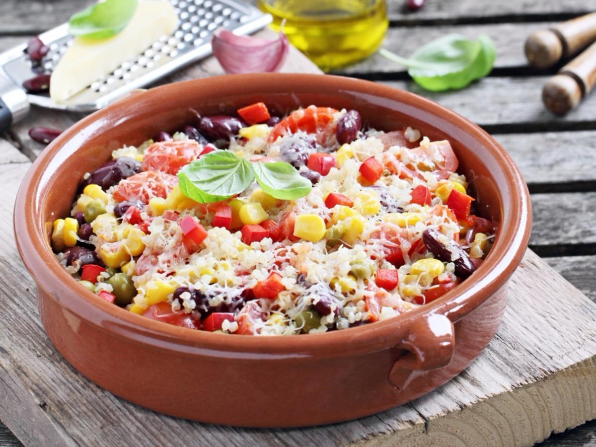 Vegetarian Enchilada Quinoa Bake Healthy Recipe