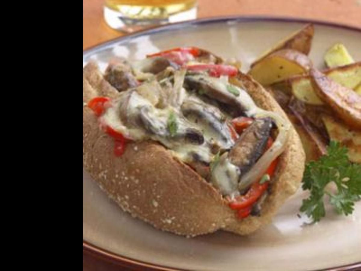 Vegetarian Philly Cheestake Healthy Recipe