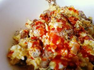 Vegetarian Quorn Colombian Scrambed Eggs Healthy Recipe