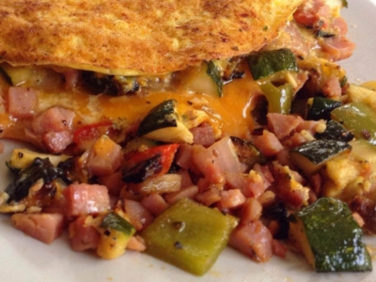 Veggie and Ham Omelet Healthy Recipe