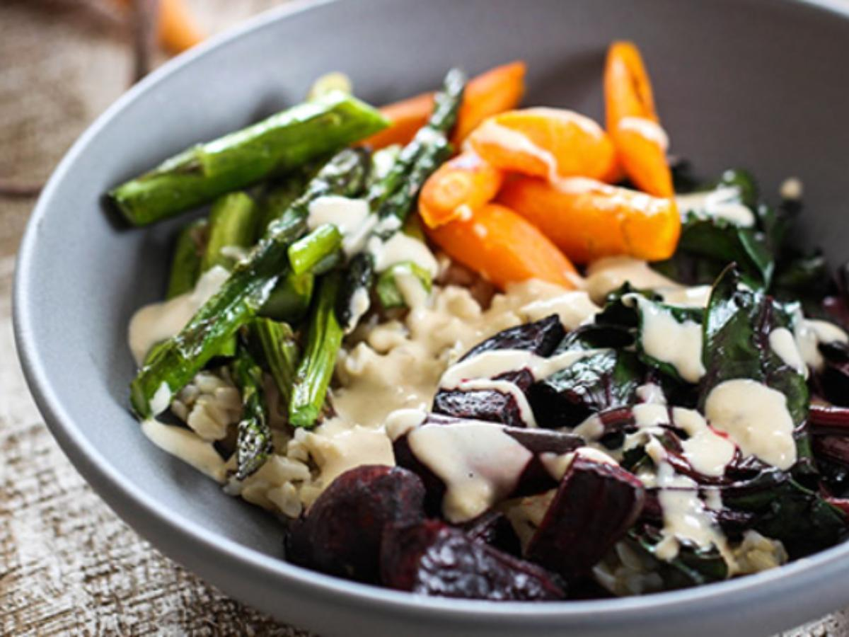 Veggie Bowl with Tahini Dressing Healthy Recipe