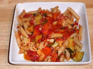 Veggies, Pasta Sauce, and Red Lentil Rotini Healthy Recipe