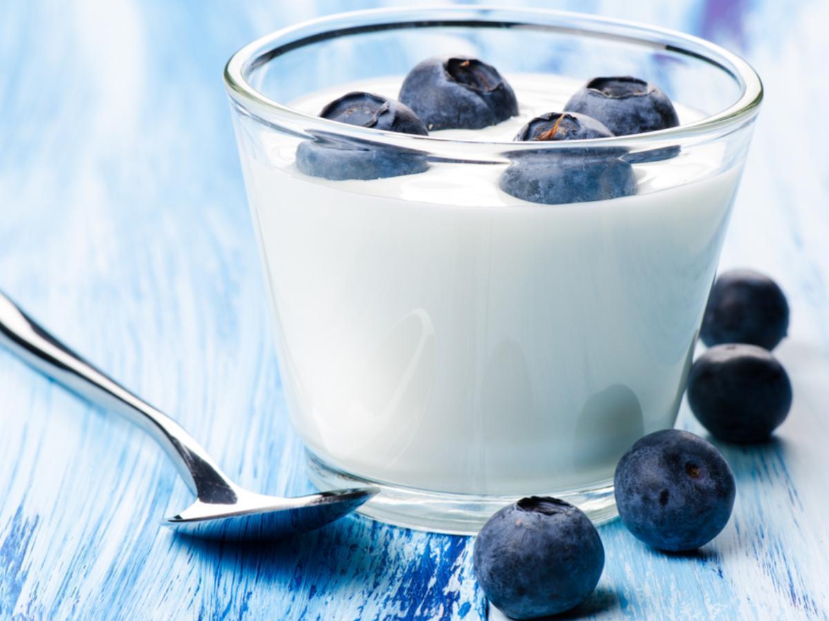 Warm Blueberry Yogurt Healthy Recipe