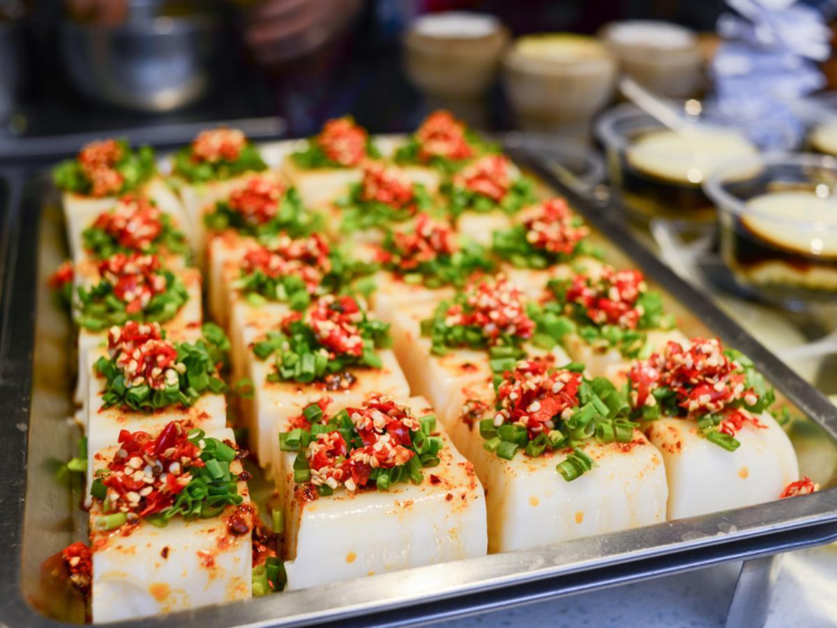 Warm Tofu with Spicy Garlic Sauce Healthy Recipe