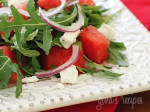 Watermelon Arugula and Feta Salad Healthy Recipe