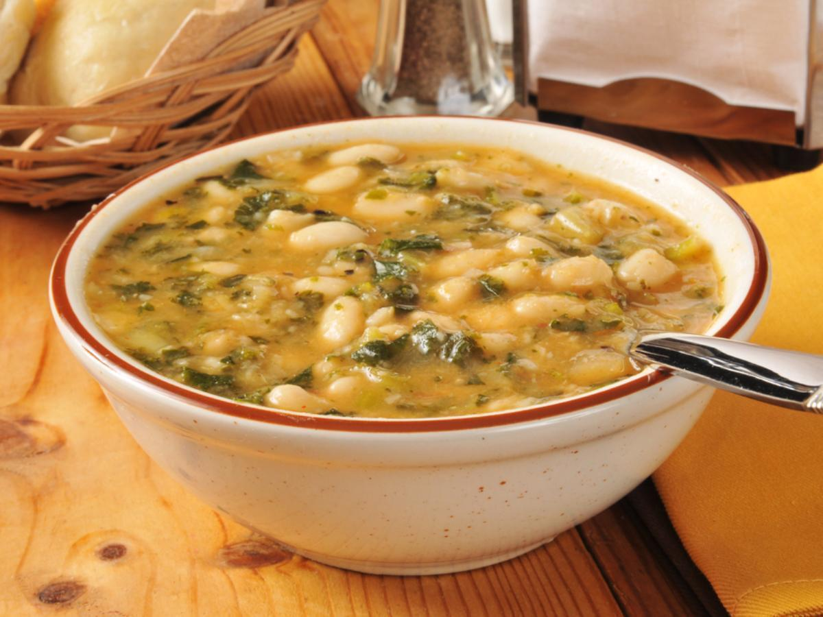 White Bean and Kale Soup Healthy Recipe