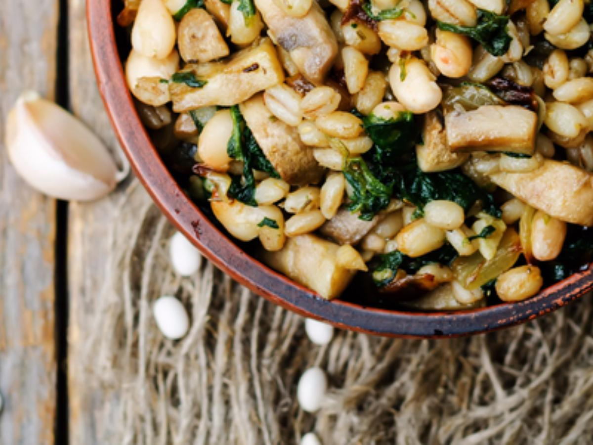 White Bean & Barley Salad Healthy Recipe