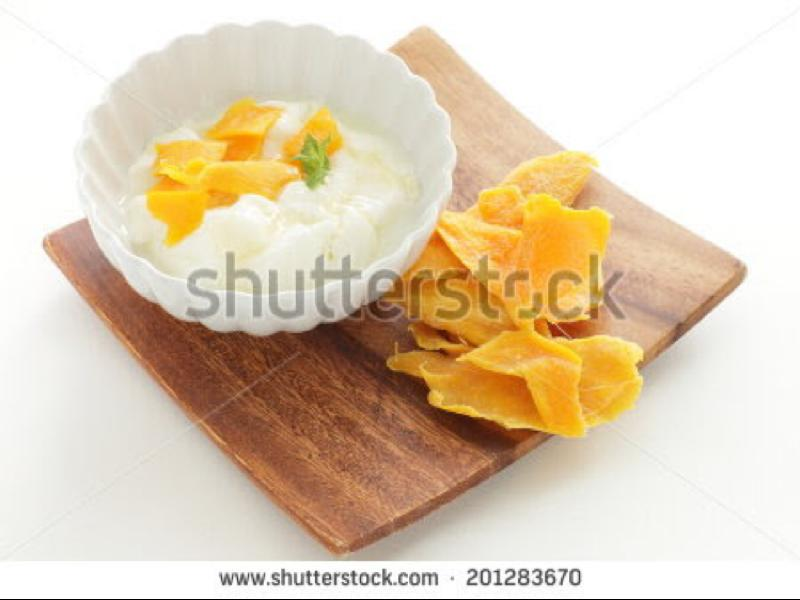 Yogurt & Dried Mango Healthy Recipe