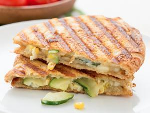 Zucchini and Corn Panini Healthy Recipe