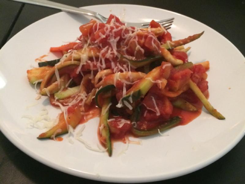 Zucchini Pasta Healthy Recipe