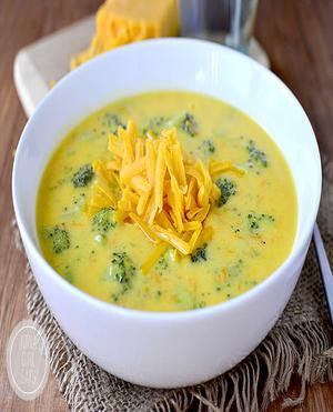 Broccoli Cheddar Soup Healthy Recipe