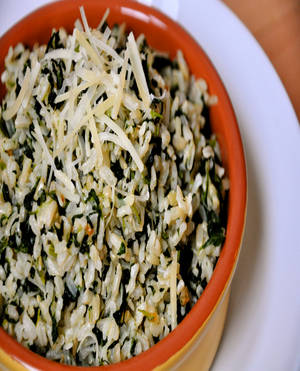 Brown Rice Spinach Healthy Recipe