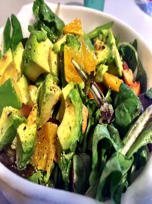 Orange Avocado Cashew Salad Healthy Recipe