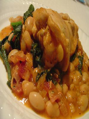 Chicken With White Beans, Spinach Healthy Recipe