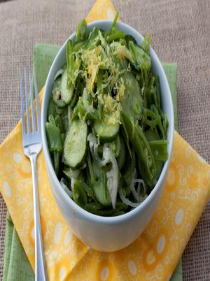 Cucumber Gingered Peas Salad Healthy Recipe