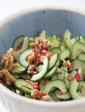 Cucumber And Walnut Salad Healthy Recipe