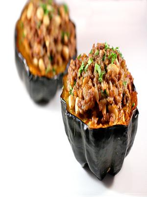Moroccan Style Stuffed Acorn Squashes Healthy Recipe