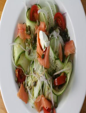 Smoked Salmon Cucumber Sweet Mustard Sauce Healthy Recipe