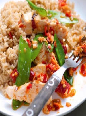 Acini di Pepe Pasta with Garlic and Olives Healthy Recipe
