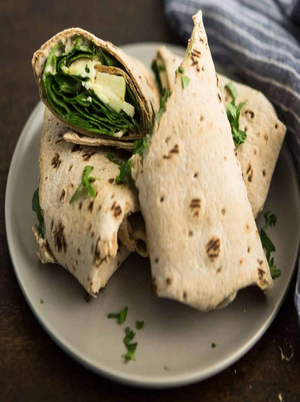 Apple Wraps with Mustard Hummus Healthy Recipe