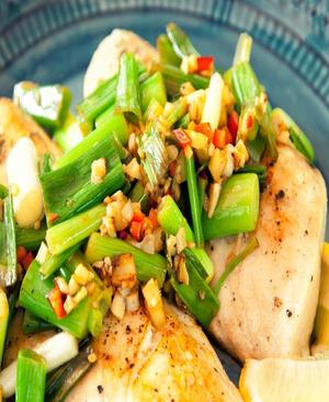 Asian Sea Bass Healthy Recipe