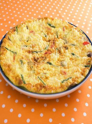 Asparagus, Fontina and Tomato Frittata Healthy Recipe