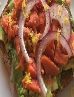 Avocado and Salmon Toast Healthy Recipe
