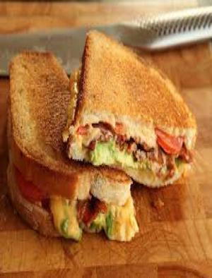 Bacon Avocado Grilled Cheese  Healthy Recipe