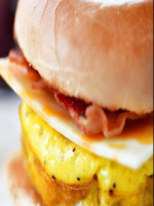 Bacon, Egg, and Cheese Breakfast Bagel Healthy Recipe