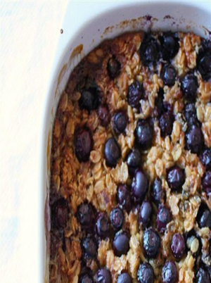 Baked Blueberry Oatmeal Healthy Recipe
