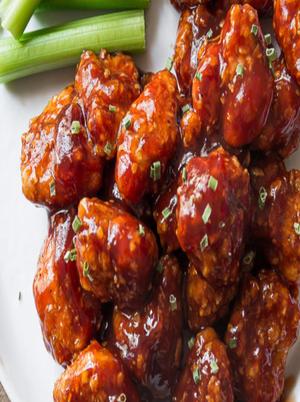 Baked Honey BBQ Popcorn Chicken Healthy Recipe