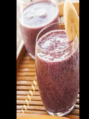 Banana Blueberry Smoothie Healthy Recipe