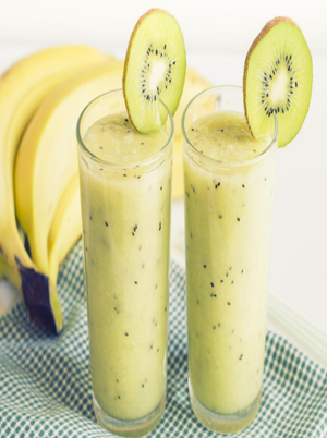 Banana, Kiwi, and Yogurt Smoothie Healthy Recipe