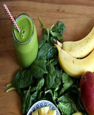 Basic Green Smoothie Healthy Recipe