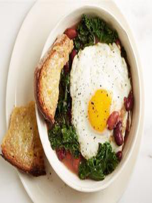 Bean, Egg, and Kale Soup Healthy Recipe