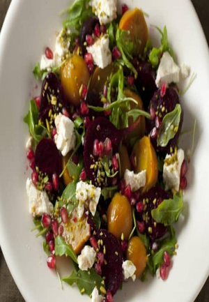 Beetroot Salad with Pomegranate and Pistacio Healthy Recipe