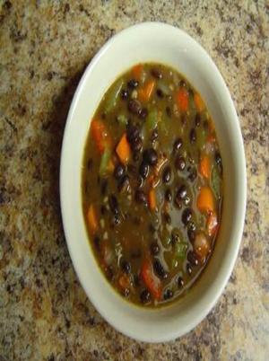 Black Bean and Bacon Soup Healthy Recipe